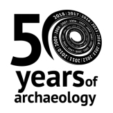 50 years of archaeology logo
