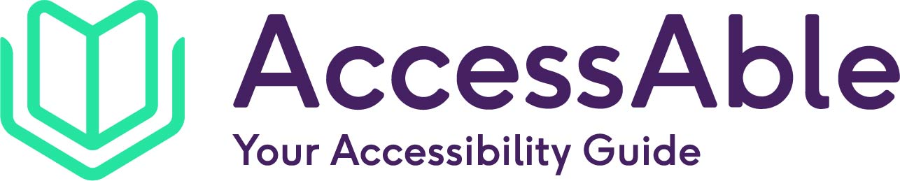 AccessAble logo, featuring the text 'AccessAble Your Accessibility Guide'