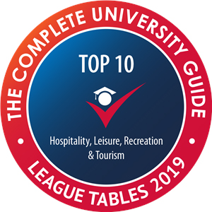 Complete University Guide Top 10 Hospitality, Recreation & Tourism logo