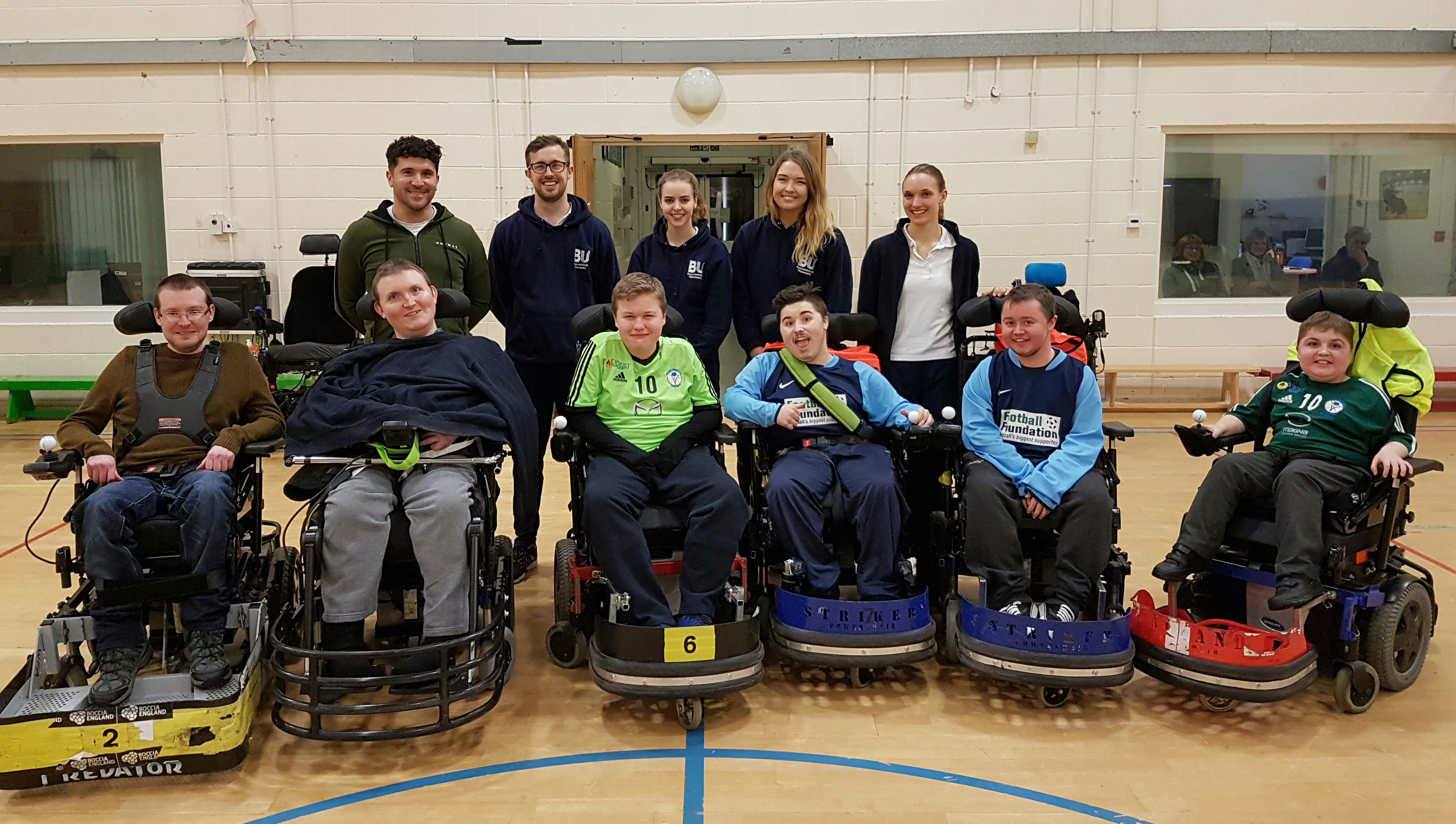kart england fotball BU Physiotherapy students volunteer with disability sports groups