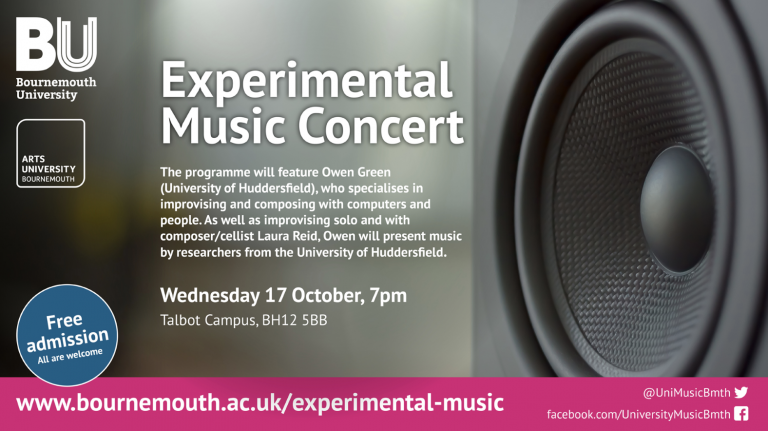 Experimental music concert at the Arts university flyer