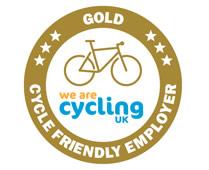 Gold cycle friendly employer logo