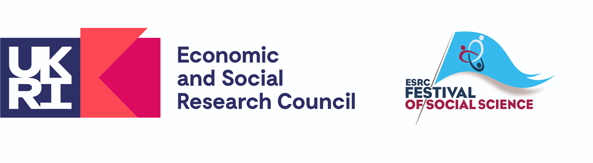 The UKRI Economic and Social Research Council and ESRC Festival of Social Science logos