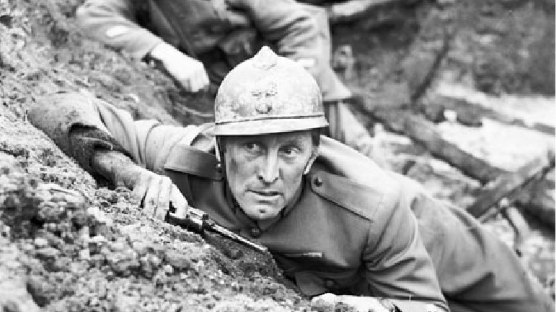 Kirk Douglas in Kubrick's 1957 film Paths of Glory (Image courtesy of Twentieth Century Fox©)
