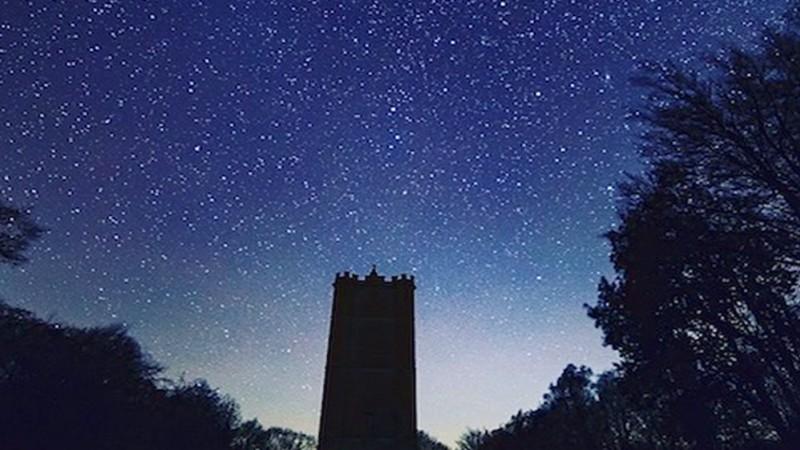 Cranborne Chase and Dark Night Skies: Cranborne Chase church at night