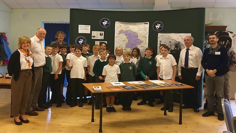 Cranborne Chase and Dark Night Skies: Primary school students from a local Cranborne Chase school