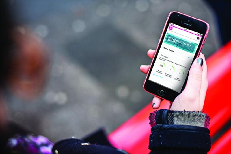 Global Talent Programme on phone screen