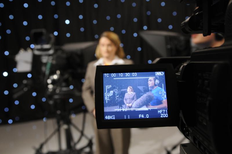 HD TV studio