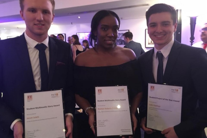 Awards success at NCTJ Awards for Excellence in Journalism 2017