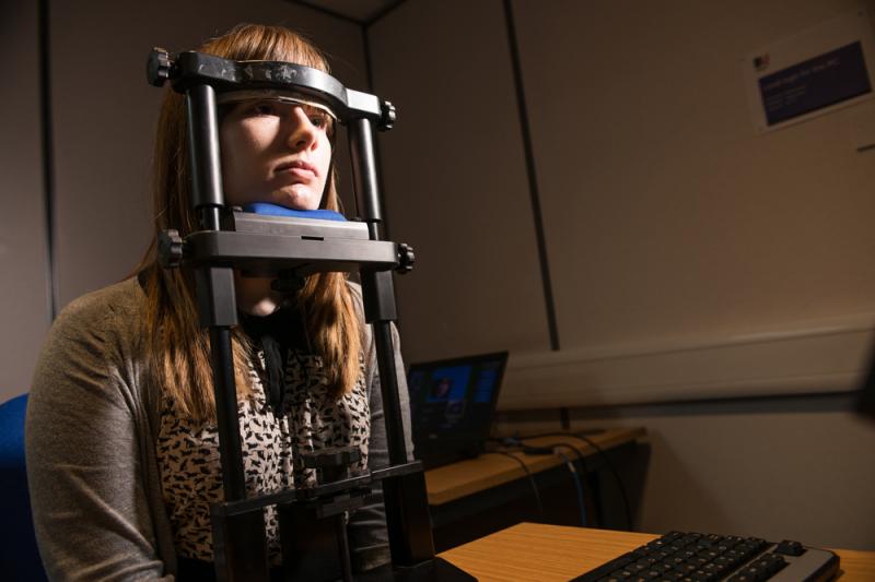 Eye tracking psychological face tracking