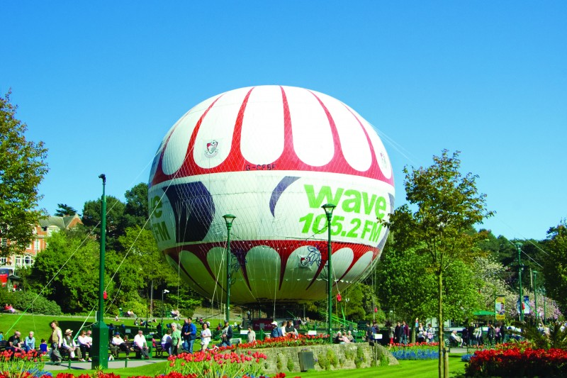 The balloon in Bournemouth Gardens
