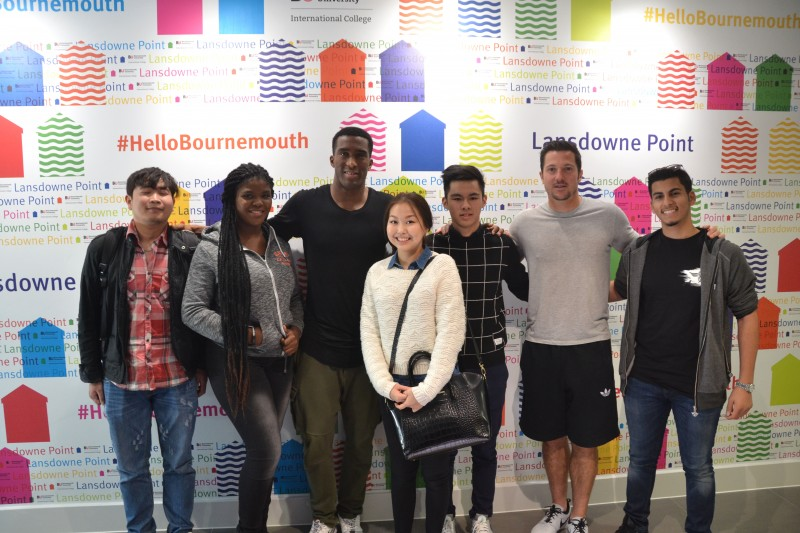 AFC Bournemouth players visit Bournemouth University International College picture