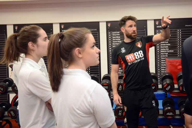 AFCB's Head of Sports Medicine hosts afternoon for BU physiotherapy students