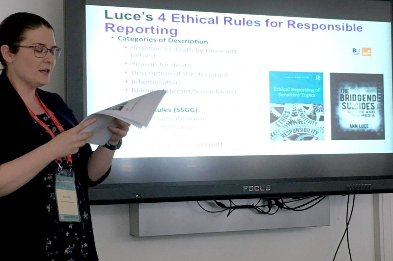 Dr Ann Luce suicide reporting guidelines