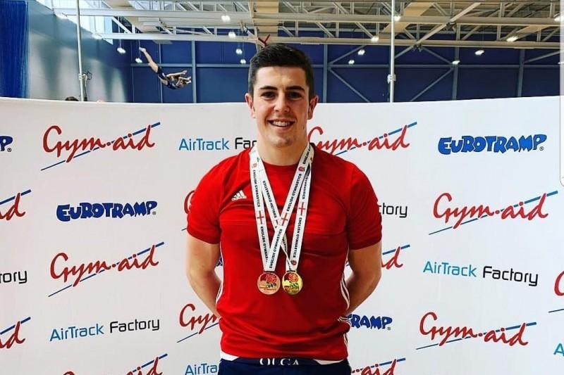 Edward Weeden; qualifying for the British Trampolining Championships