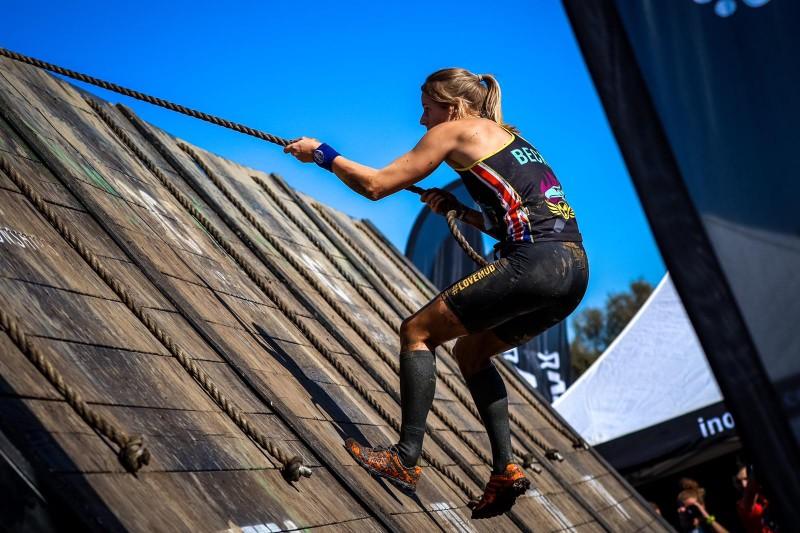 Becky Rendell climbing wall