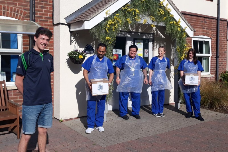 Ben Butler delivering PPE to  a care home