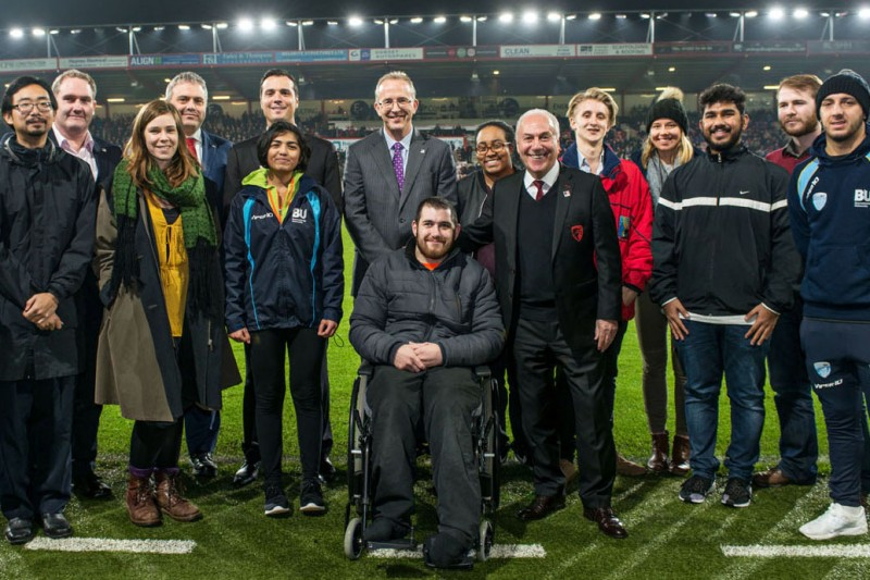 #BUBigMatch celebrates BU and AFC Bournemouth partnership