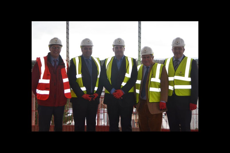 MP Bob Walter has toured the site of a new Student Centre