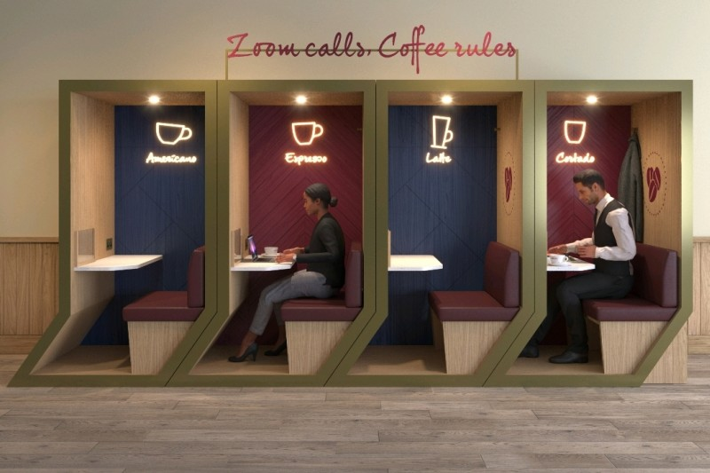 Costa Coffee consultancy project - booth prototype