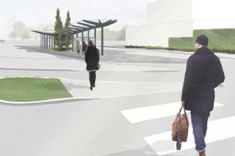 An artist's impression of the new bus hub
