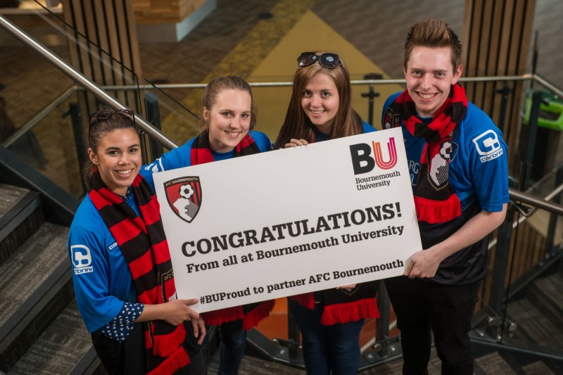 AFC Bournemouth congrats from BU