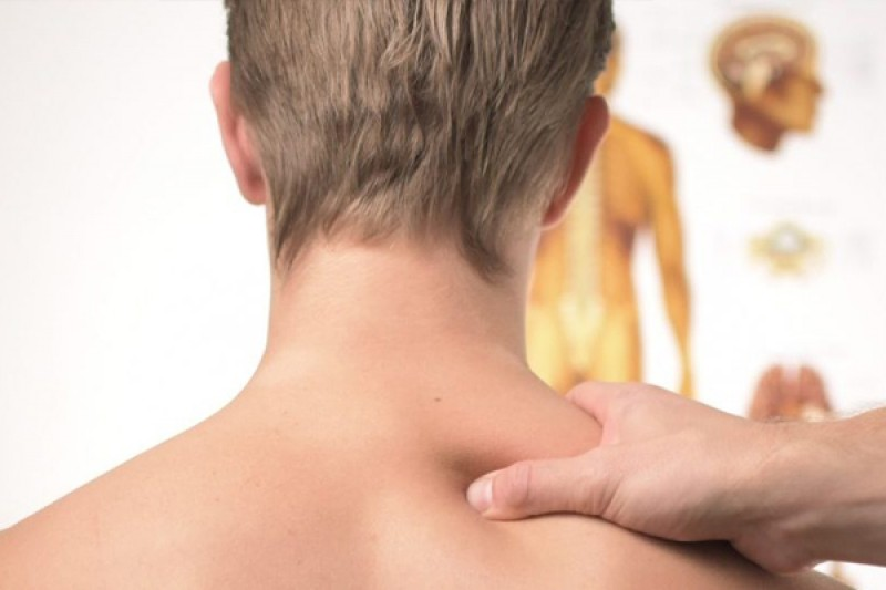 Image of a staff member giving a massage