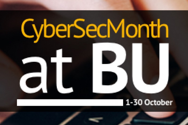 Cyber security month logo