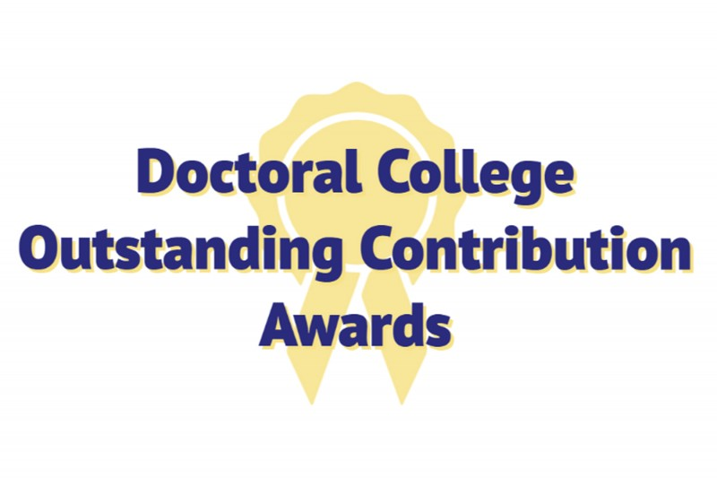 Introducing the Doctoral College Outstanding Contribution Awards