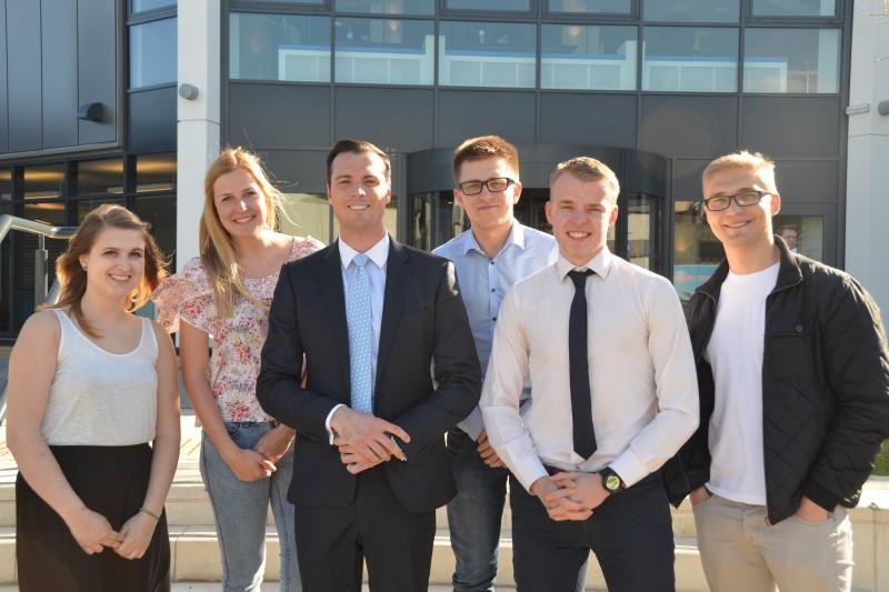 Rob Mitchell and Bournemouth University students