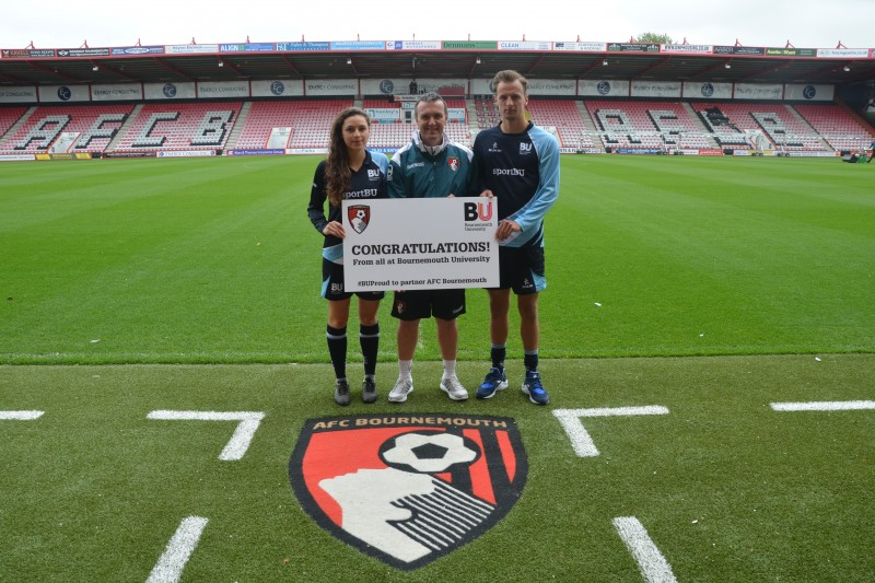 AFC Bournemouth and BU's football team captains