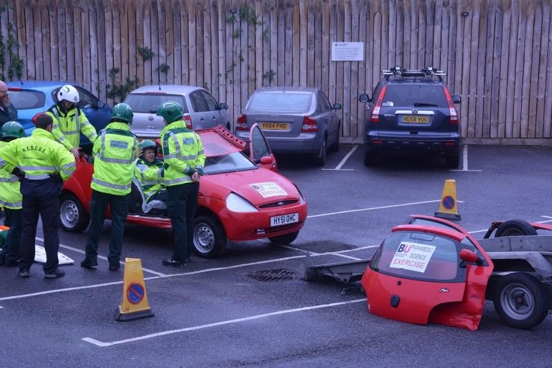 Paramedic students get practical