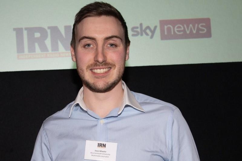 Dave Wheeler with IRN Award