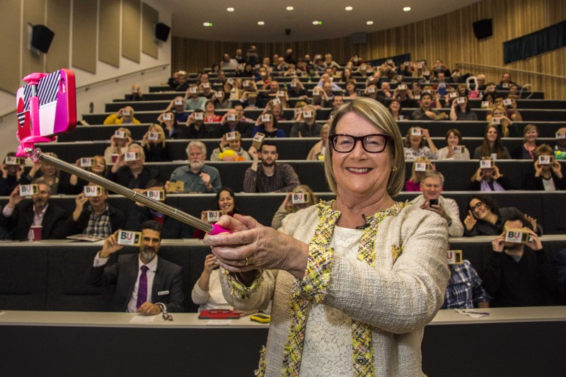 Professor Debbie Holley talks hashtags, handhelds and handbags at BU