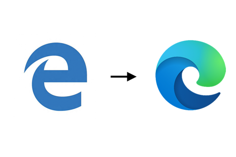 Microsoft Edge upgrade logo