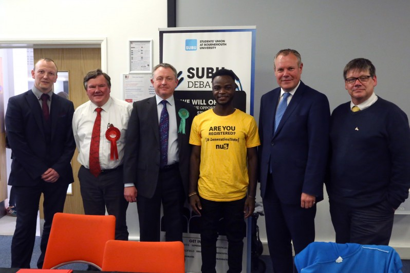 Bournemouth West candidates take part in SUBU election debate at BU