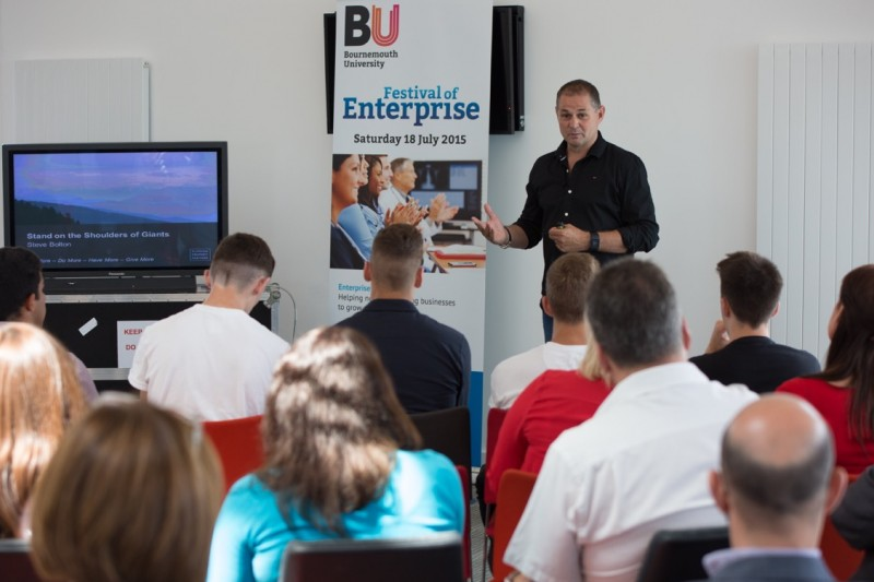 Steve Bolton giving the keynote at Festival of Enterprise