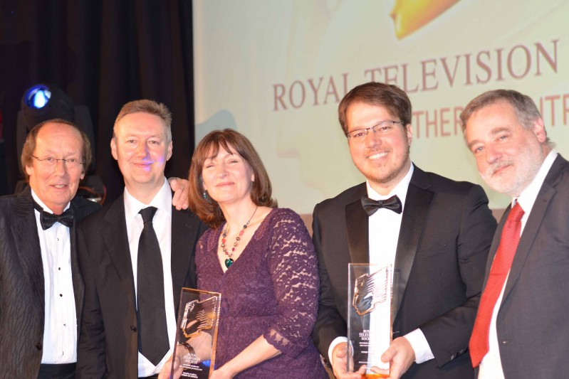 Fred Dinenage and the RedBalloon team at RTS Awards
