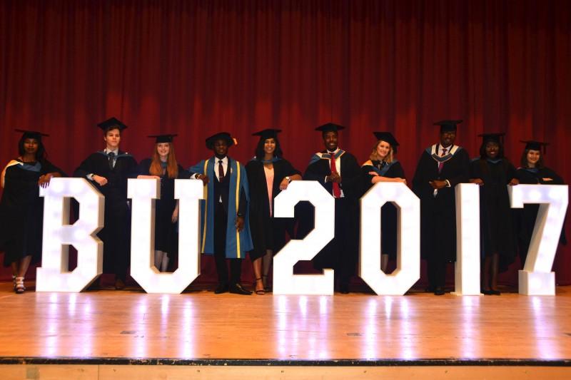 Graduation 2017 BU2017 letters