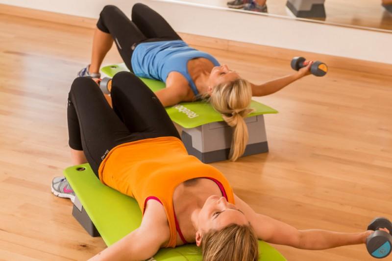 A fitness class at SportBU