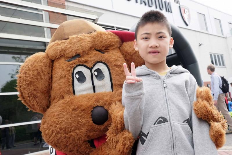 Howard Chen with Cherry Bear