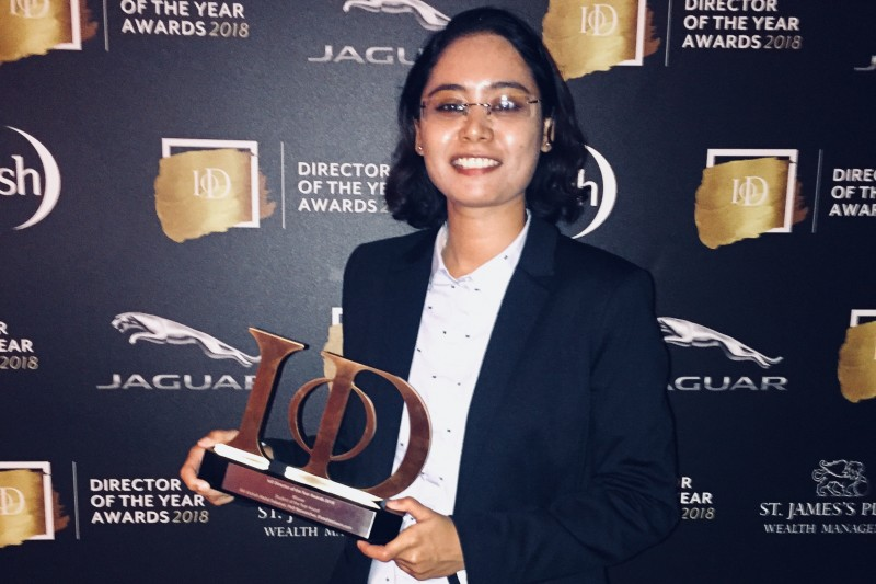 BU student wins Institute of Directors (IoD) Student of the Year Award 2018