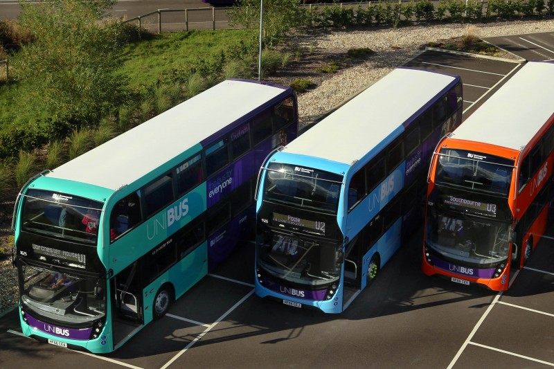 Reduced UNIBUS timetables from Monday 12 October