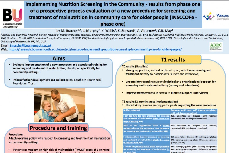 Implementing nutrition screening in community care for older people report cover
