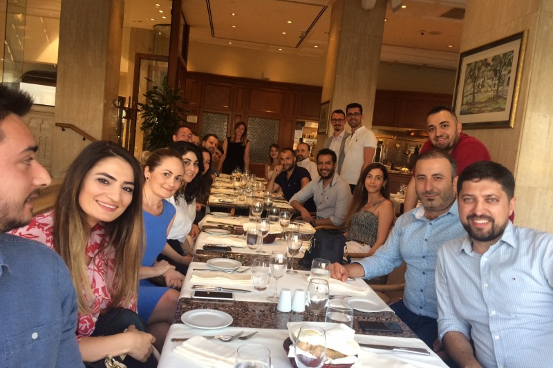 Turkish BU alumni at an event in Istanbul