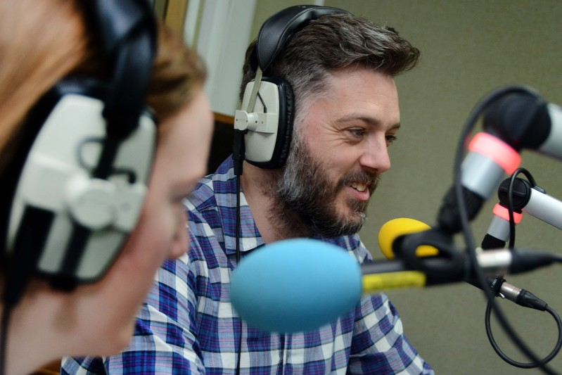 Radio and TV presenter Iain Lee shared some of his top tips for success in radio with students from BU's Radio Production courses.   The presenter, whose shows included RI:SE, and The 11 O'Clock Show, as well as regular radio slots on XFM, LBC and Absolute Radio, came to BU to be interviewed by students from the MA Radio Production course, as well as tour the University's Talbot Campus.  Iain talked about his experiences working in both commercial radio and at the BBC.