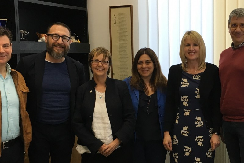 Professor Jane Murphy and Dr Janet Scammell visit the University of Genoa