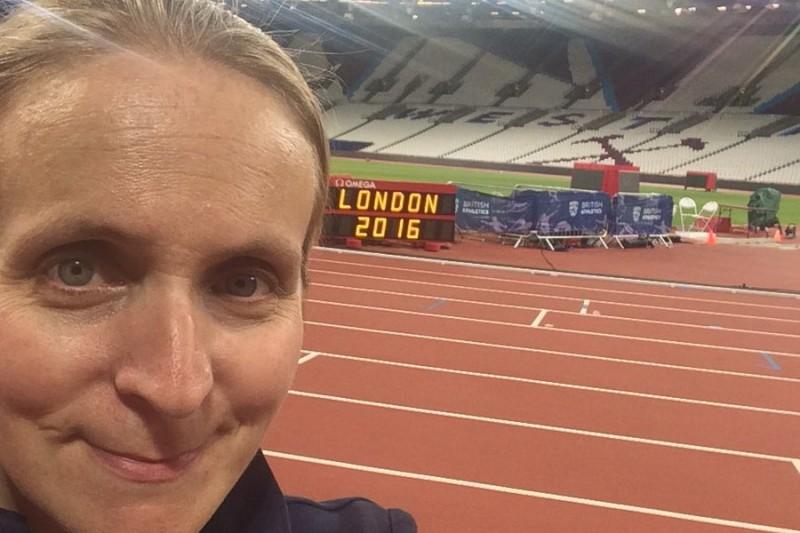 Liz Birchall, BU graduate at the Olympics
