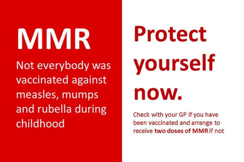 MMR advice - measle mumps rubella