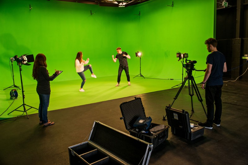Animation green screen room